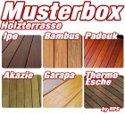 musterbox top 6 holzterrasse holzterrasse system consylt holzterrassen holzterrasse shop. Black Bedroom Furniture Sets. Home Design Ideas