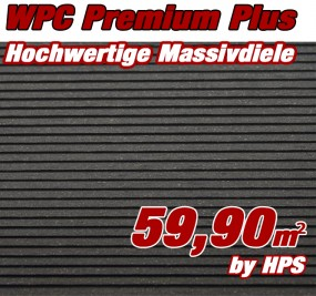 WPC Massivdiele Premium Plus - Anthrazit
