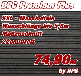 BPC Massivdiele Premium Plus - Anthrazit