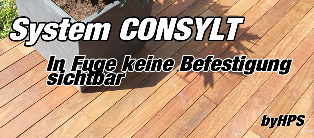 holzterrasse system consylt holzterrassen. Black Bedroom Furniture Sets. Home Design Ideas
