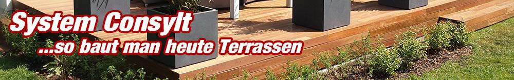 Holzterrasse System Consylt so baut man heute Holz